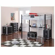 Laminate Flooring Black And White Furniture Black White Metal Bunk Bed With Desk And Storage Added