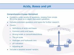 Ph Worksheet Acids Bases And Ph Worksheet By Goodscienceworksheets