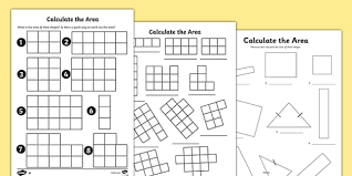 the area worksheets area worksheet calculate work