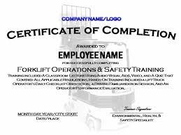 7 best images of forklift certification certificate sample