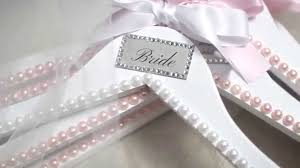 diy bridesmaids gifts customized hangers crystals u0026 pearls