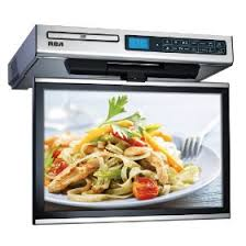 under cabinet dvd player mount under cabinet tv a space saving option for any home kitchen