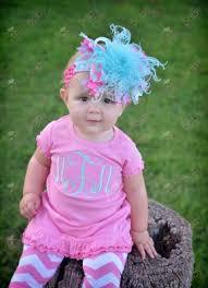 monogram headband pink aqua monogram initial ruffle dress