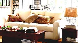 Side Table In Living Room Oak Coffee Table And Side Near White Pottery Barn Sofa For