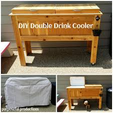 Diy Wood Furniture Purposeful Productions Diy Wood Drink Cooler Home Ideas