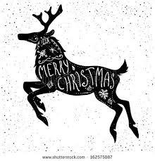 christmas deer christmas deer silhouette stock vector 162575087