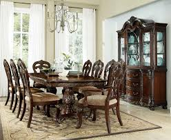 Double Pedestal Dining Room Tables Homelegance Deryn Park Double Pedestal Dining Set Cherry 2243