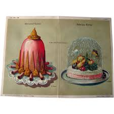antique german decorative cake print by george ritzer home decor