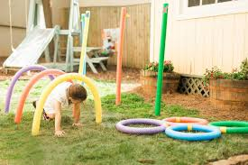 Outdoor Backyard Games 10 Ways To Turn Pool Noodles Into Almost Free Backyard Kids U0027 Games