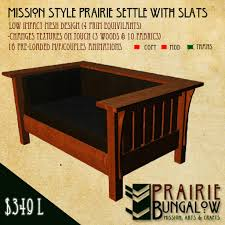 Mission Style Loveseat Second Life Marketplace Mission Style Prairie Settle Loveseat