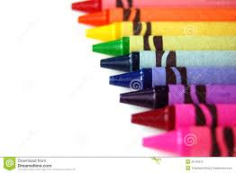rainbow crayons stock photos image 26120913