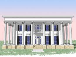 Greek Revival House Plans Classic Greek Revival With Fly By 44042td Architectural