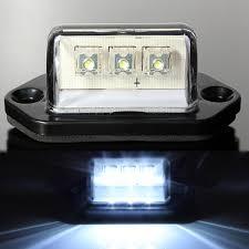 12 Volt Led Bulbs Rv Lights by 12 24v 3 Led License Plate Tag Light Boat Rv Truck Trailer