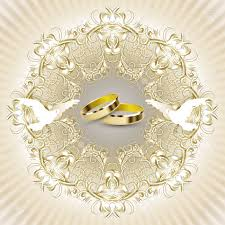 Weeding Invitation Card Wedding Invitation Card With Beautiful Decorations Pigeons And