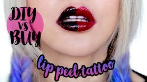 Lip Tattoos On - diy peel lip vs 24 hr lip tint
