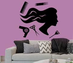 wall decals vinyl decal sticker woman hair accessories beauty wall decals fashion girl hair accessories hairdressing salon shears decal beauty salon home vinyl stickers living room decor art mural