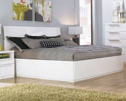 White King Platform Bed White King Platform Bed White Bed