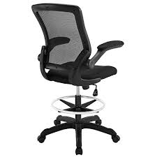Drafting Table Stools Modway Veer Drafting Chair In Black Reception Desk Chair Tall