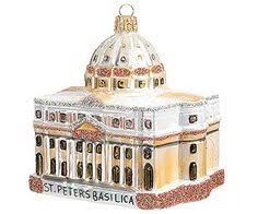 st peters basilica cathedral glass ornament
