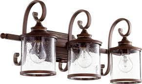 Felix 4 Light Cage Vanity - quorum san miguel 3 light vanity persian white traditional