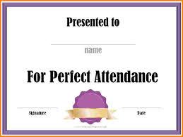 perfect attendance templates certificate templates