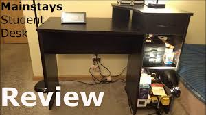 Mainstays L Shaped Desk With Hutch Multiple Finishes by Mainstays Student Desk Review Walmart U0027s Best Selling Desk Youtube