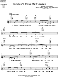 You Dont Bring Me Flowers - download digital sheet music of marillion for