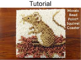 Beaded Home Decor Beading Tutorial Pattern Beaded Mouse Coaster Mosaic Beadpoint