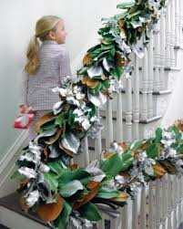 Christmas Banister Garland Ideas 37 Beautiful Christmas Staircase Décor Ideas To Try Digsdigs