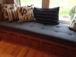 Bench Seat Cushion Custom Button Tufted Window Seat Cushion With Cording