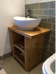 Washstands And Vanity Units Solid Beam Basin Vanity Unit Wash Stand Rustic By Simplyrfurniture
