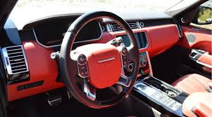 land rover autobiography red interior range rover autobiography los angeles carbon exotic rentals