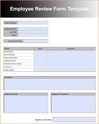 9 employee review form academic resume template