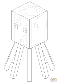 minecraft squid coloring free printable coloring pages