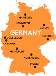 map of germany cities map of germany railpass
