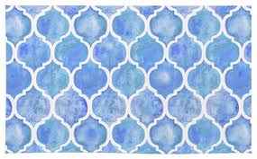 corn flower blue society6 cornflower blue moroccan painted watercolor pattern