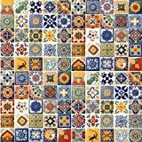 amazon com 100 mexican tiles mix home u0026 kitchen