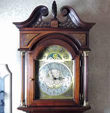grandfather clock ethan allen limited edition mahogany grandfather clock ebth