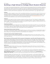 resume writing for highschool students sample letter of