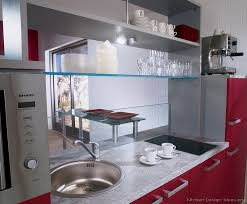 Pictures Of Kitchens Modern TwoTone Kitchen Cabinets Kitchen - Glass shelves for kitchen cabinets