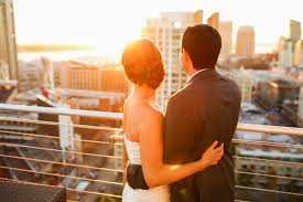 san diego wedding photographers ultimate skybox diamond view tower wedding downtown san diego