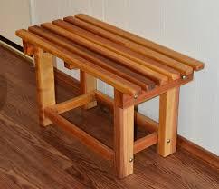 Outdoor Shower Bench Redwood Shower Bench Custom Wooden Bench