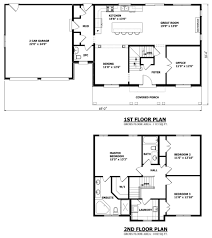 Two Storey Residential Floor Plan 2 Story 4 Bedroom Farmhouse House Floor Plans Blueprints Building