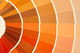 warm orange card color palette in warm tones yellow orange brown stock photo