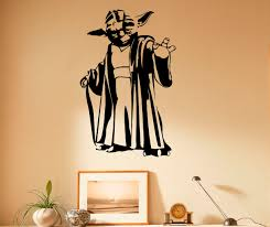 etsy master yoda wall decal vinyl stickers star wars home interior art design murals bedroom decor