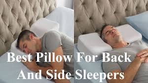 bed pillows for side sleepers best pillow for back and side sleepers youtube