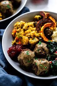 vegan meatballs with gravy dietitian debbie dishes