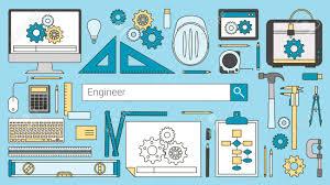 recherche ordinateur de bureau mécanique bannière ingénieur barre de recherche les objets de ligne