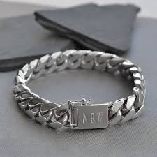bracelet silver sterling images Sterling silver heavy curb bracelet by martha jackson sterling jpg