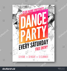 dance party poster template night dance stock vector 410462389